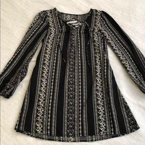 Dresses & Skirts - NWOT Silky Lace Up Long Sleeve Slip Dress